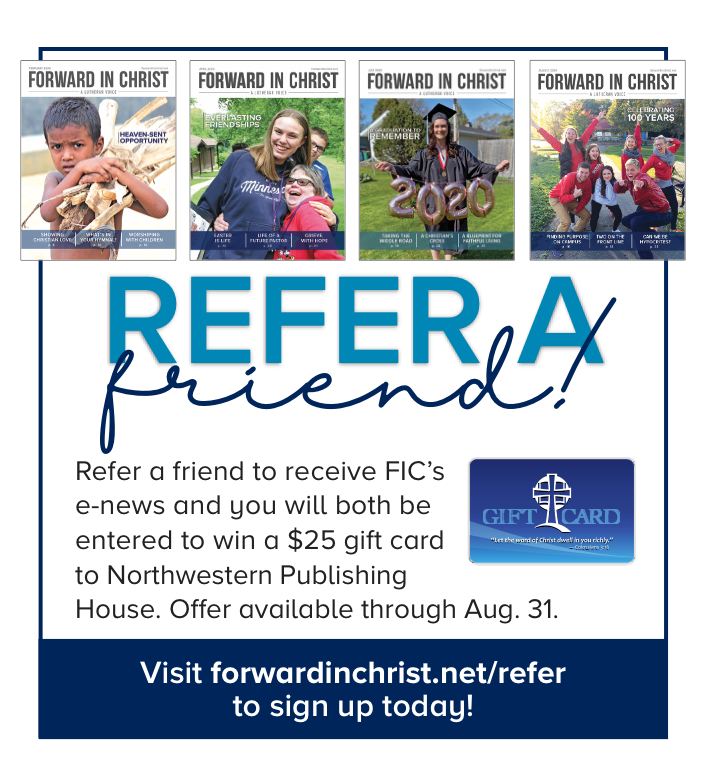 Refer a friend ad for enews